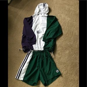 Adidas windbreaker and short set